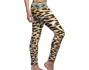 cbd858a0cfee53 Leggings Leopard print Skull Live to Ride Sexy High waist thigh for womens  Plus size Yoga Training Casual'