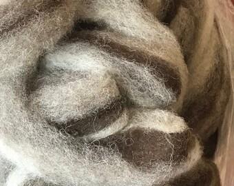 Shave /'Em to Save /'Em California Variegated Mutant Dark Chocolate Brown w Gray CVM Roving SE2SE