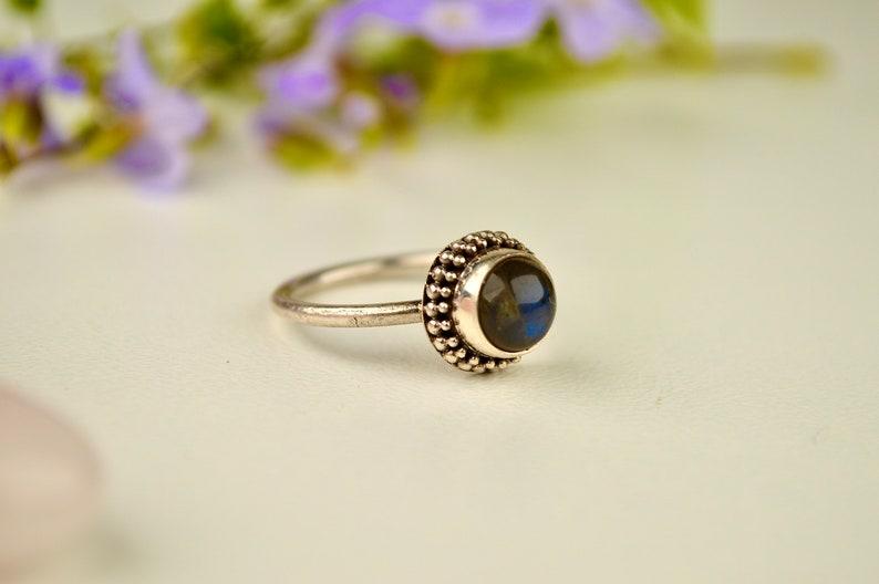Labradorite /&Silver Power Ring.