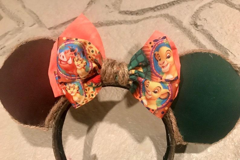 Lion King themed Puffed Minnie Ears