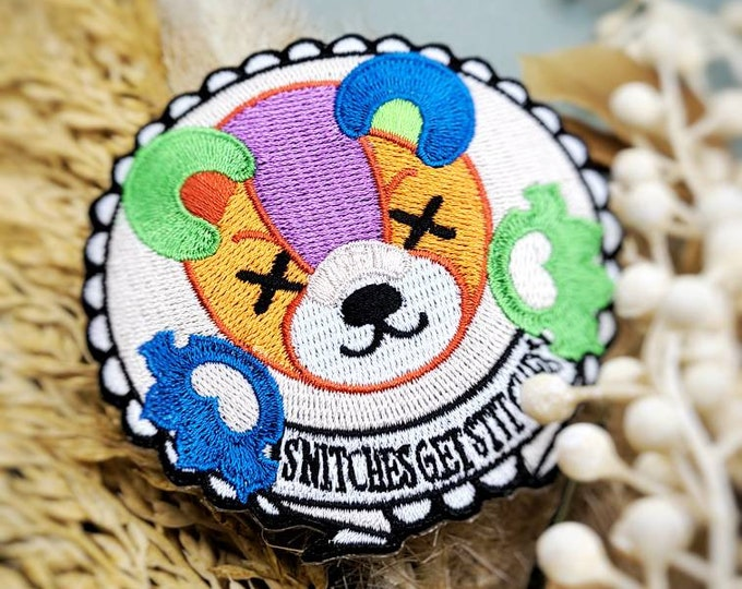 """Snitches get stitches 3""""patch"""