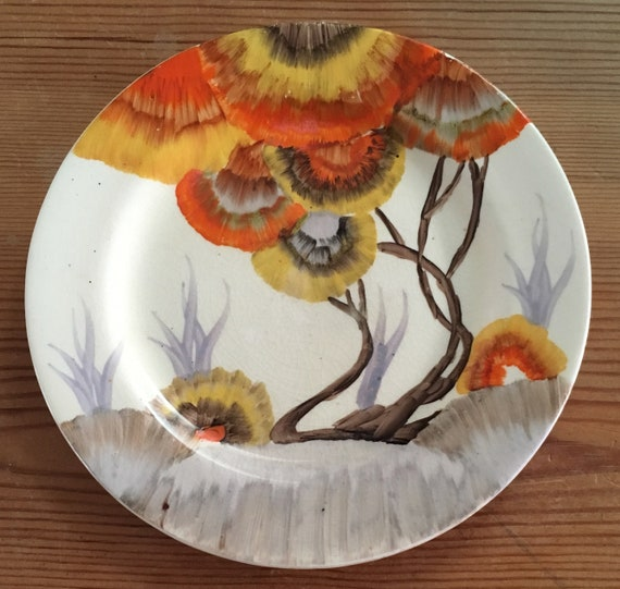 Clarice Cliff Rhodanthe Tea Plate by Etsy