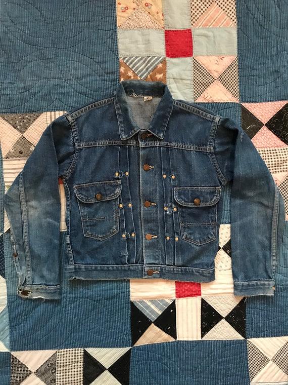 Vintage 1950s Wrangler Blue Bell Denim Jean Jacket