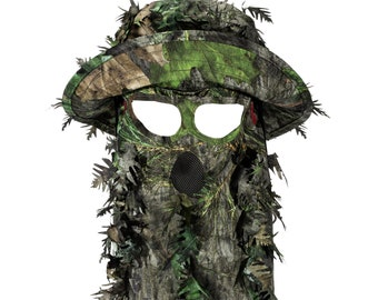bb9d95e2f0bf6a Mossy Oak Bucket Hat | 3D Leafy QuikCamo Hat and Face Mask Headwear | Hunt  Outdoors Present | Gift for Men, Husband or Boyfriend