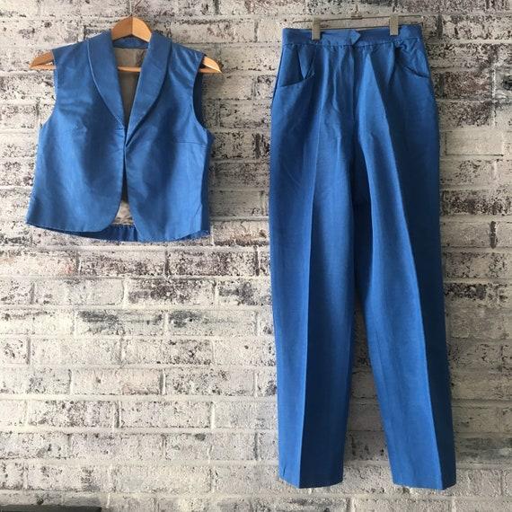 1970's designer vest/pant suit combo