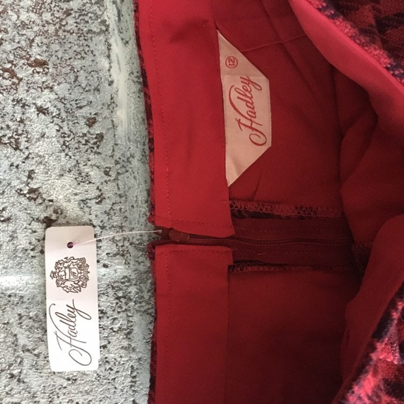 wool checked pants Vintage Hadley