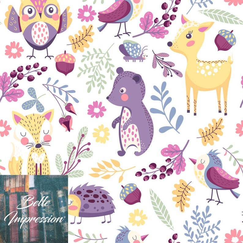 Forest animals and different plants