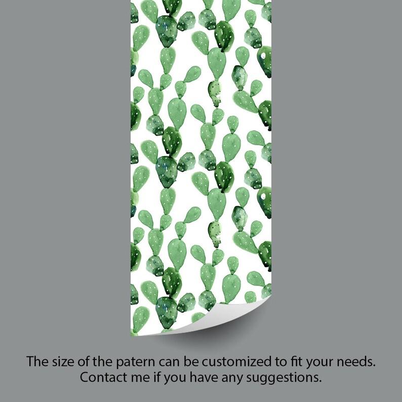 Self-adhesive Removable Wallpaper Custom Design Wall paper Peel and Stick Fabric Wallpaper Cactus Wallpaper