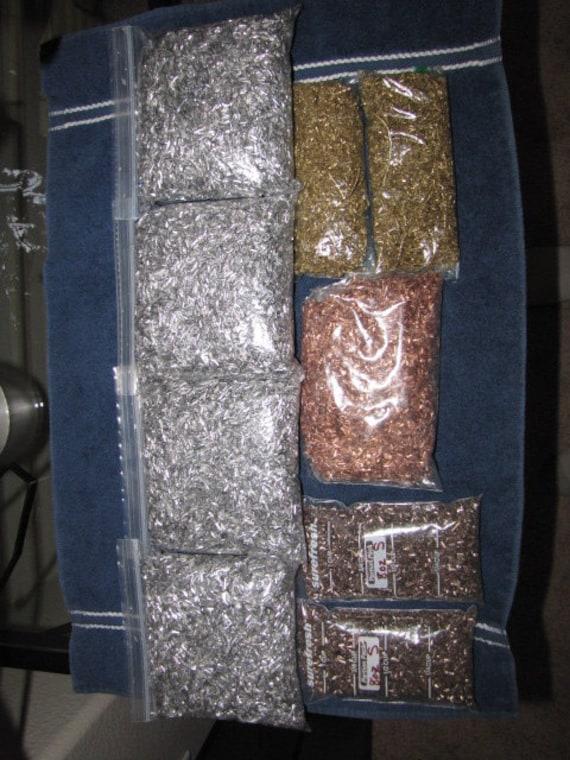 1 LB each Titanium Shavings 8 oz  Orgone Organite Metal Brass,Aluminum,Copper