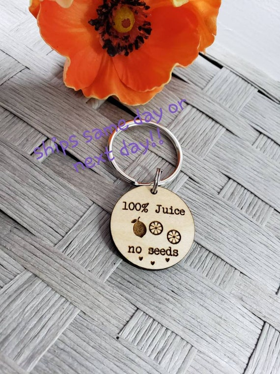 guy gift Vasectomy gift no seeds testicles keychain funny mature sex gift rude husband blanks dad gift balls 100/% juice adult