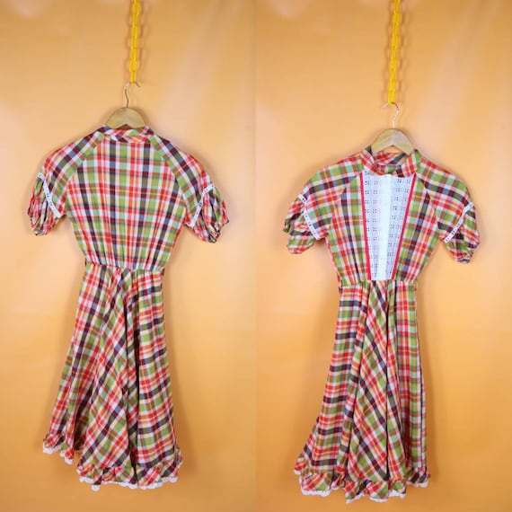 Vintage Gingham prairie dress