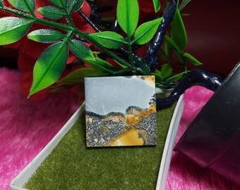 100/% Natural Guarantee Cabochons Size 38\u00d723\u00d75.2 mm Landscape Image Maligano Jasper