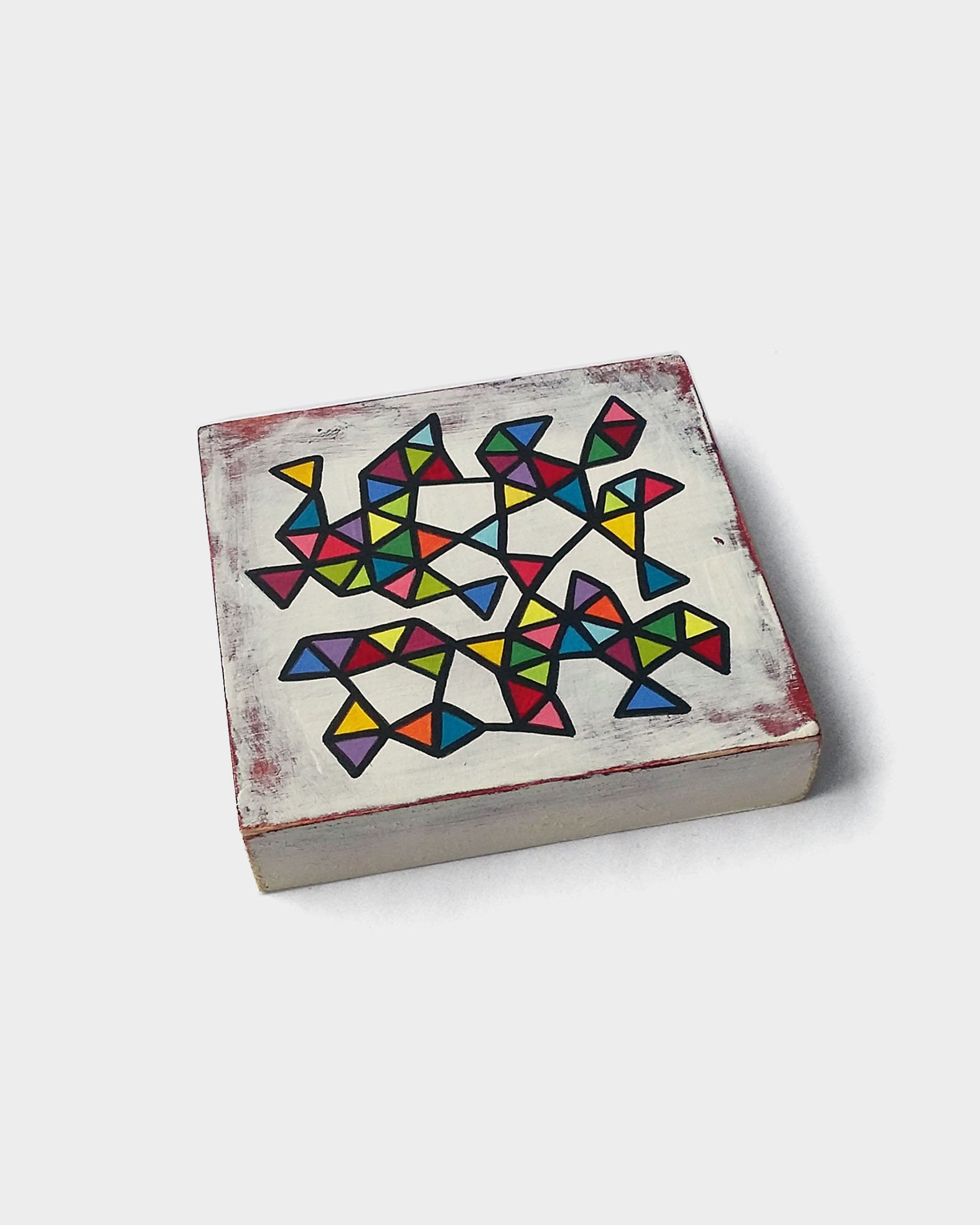 Slice_003, small abstract geometric painting - product images  of