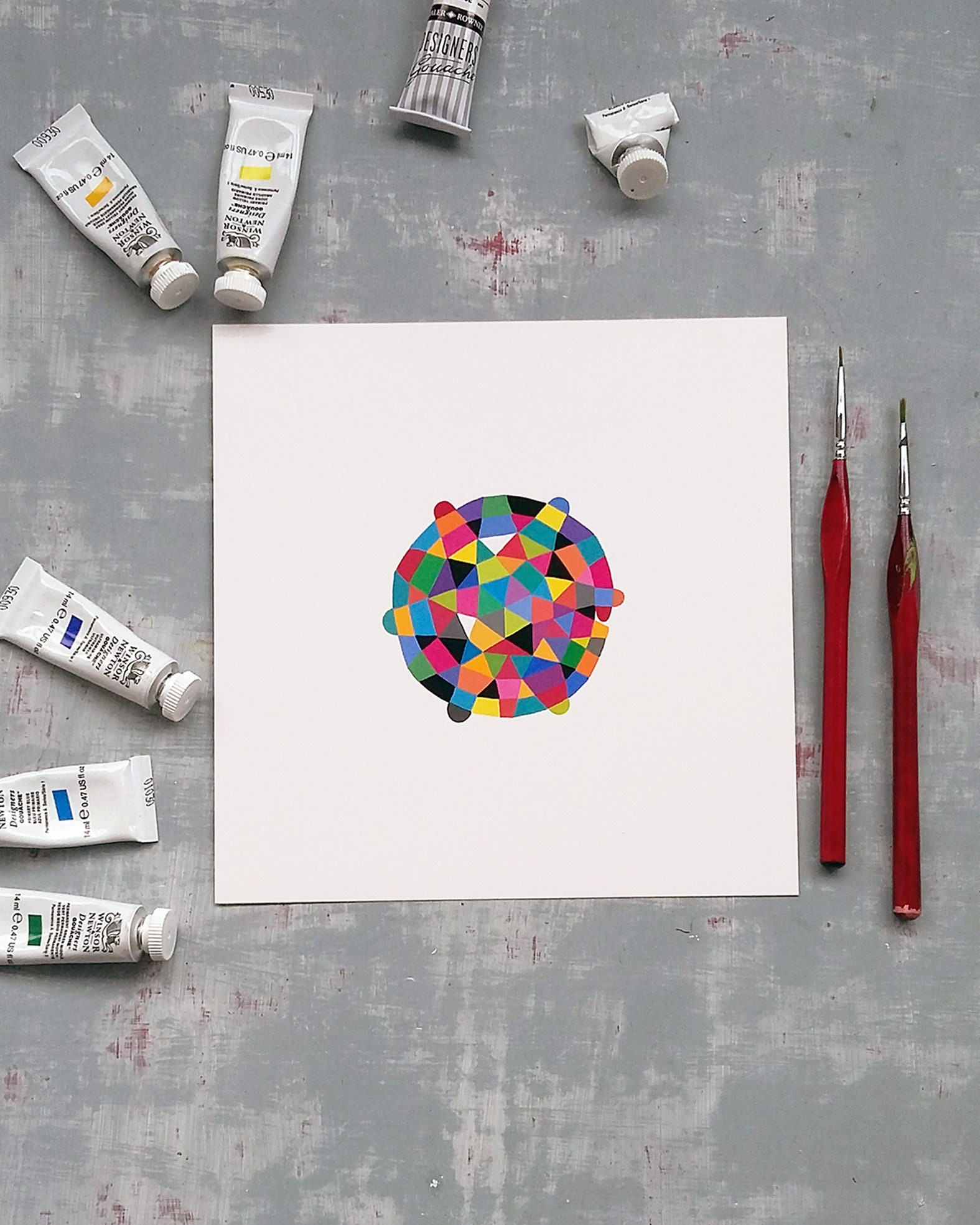 Round_shape_001, original abstract artwork - product image