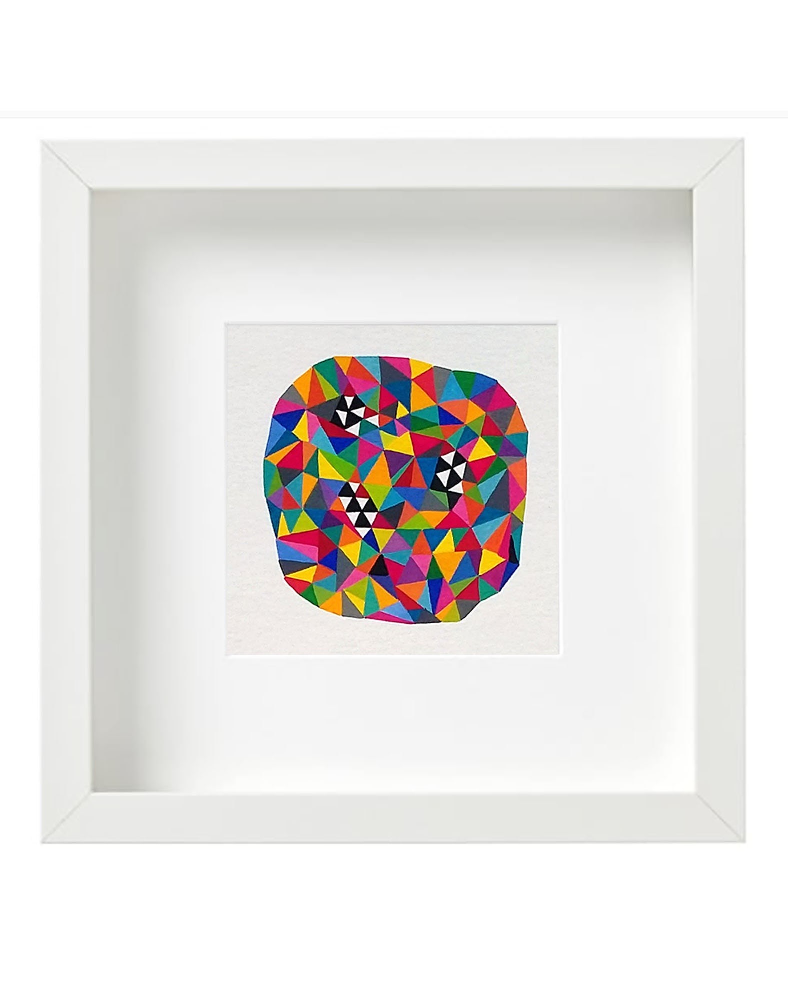 Bug_001, small geometric gouache painting on paper - product images  of