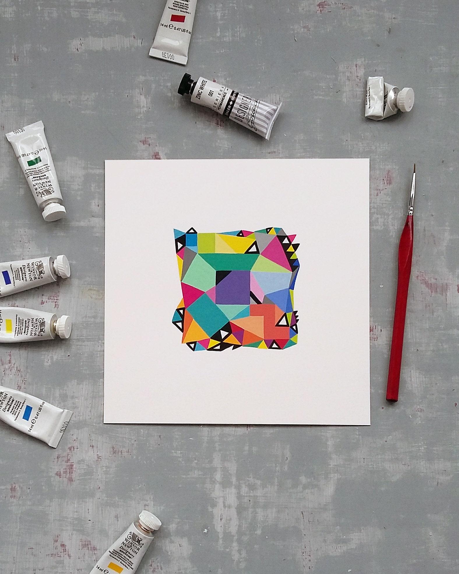 Shape_003, Original geometric art on paper - product image