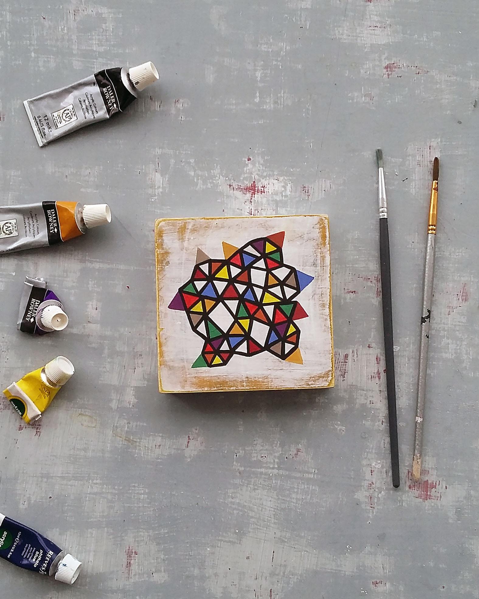 Slice_001, contemporary geometric art painting - product image