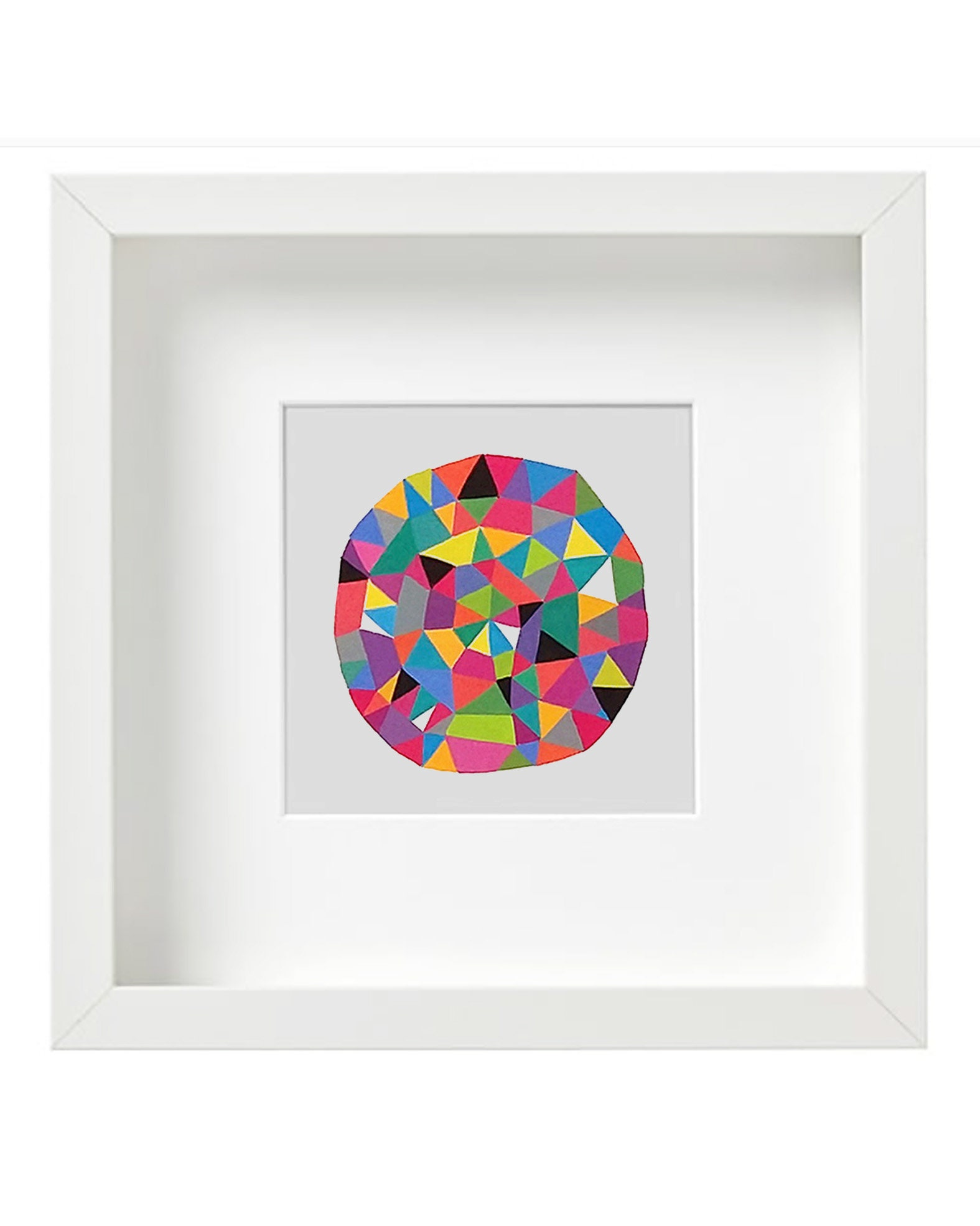 Circle_001, small square geometric illustration - product images  of