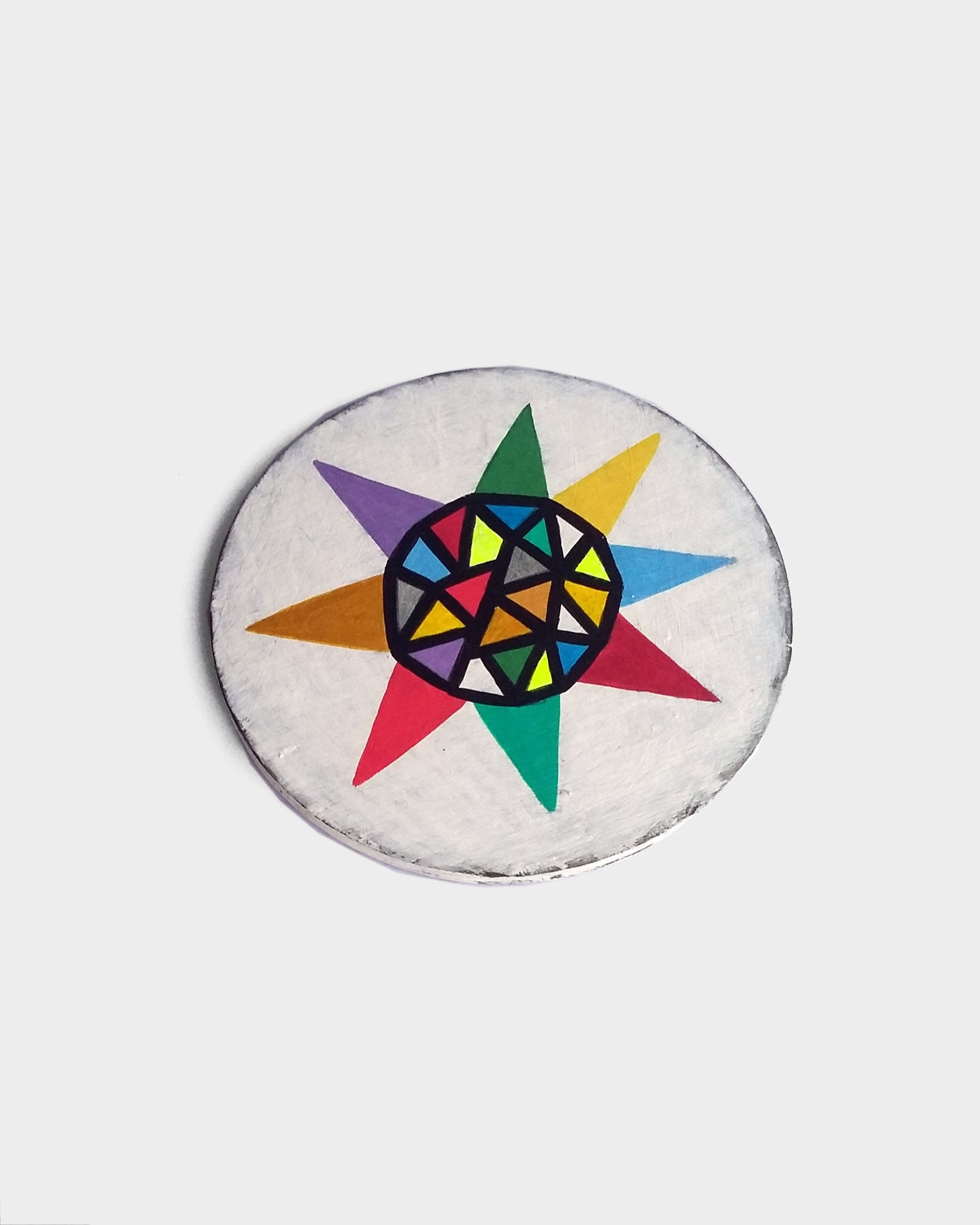 Star_002, colourful small geometric painting - product images  of