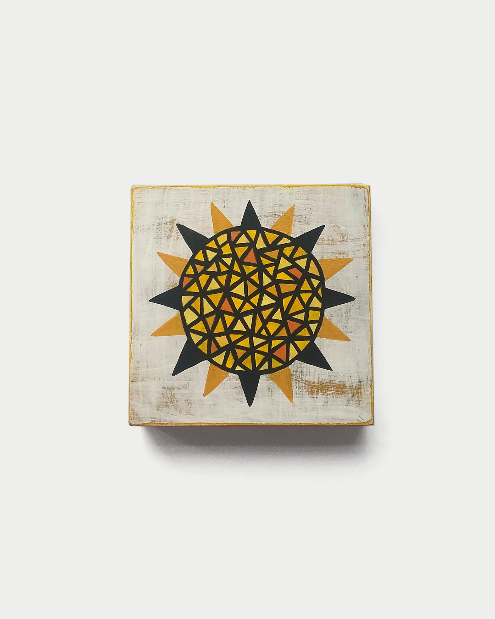 Sun_001, geometric art on wood canvas - product images  of