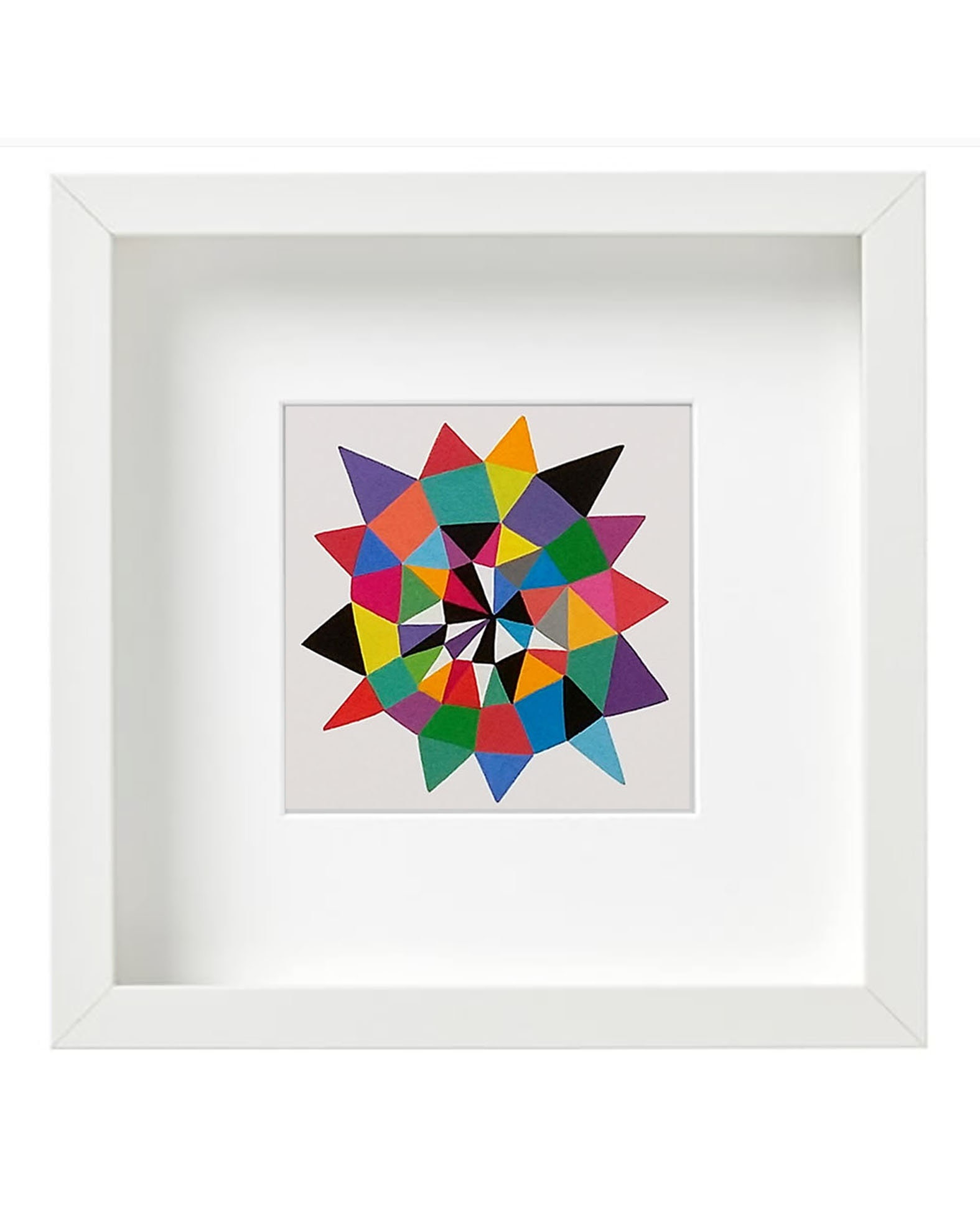 Star_008, small geometric art on paper - product images  of