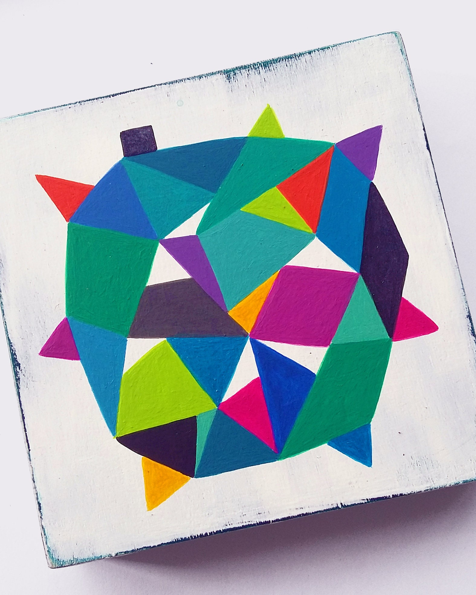 Star_004, colourful original hard edge painting - product images  of