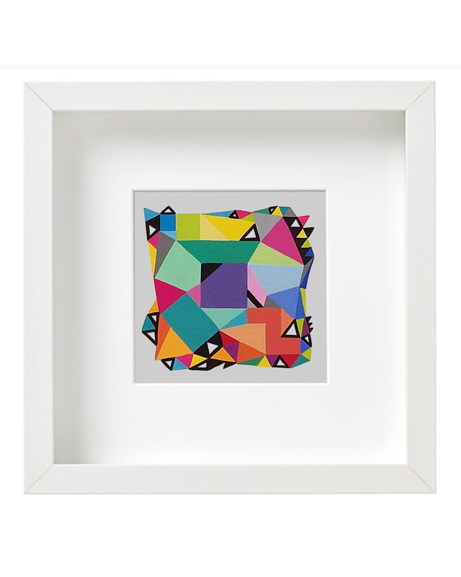 Shape_003, Original geometric art on paper - product images  of
