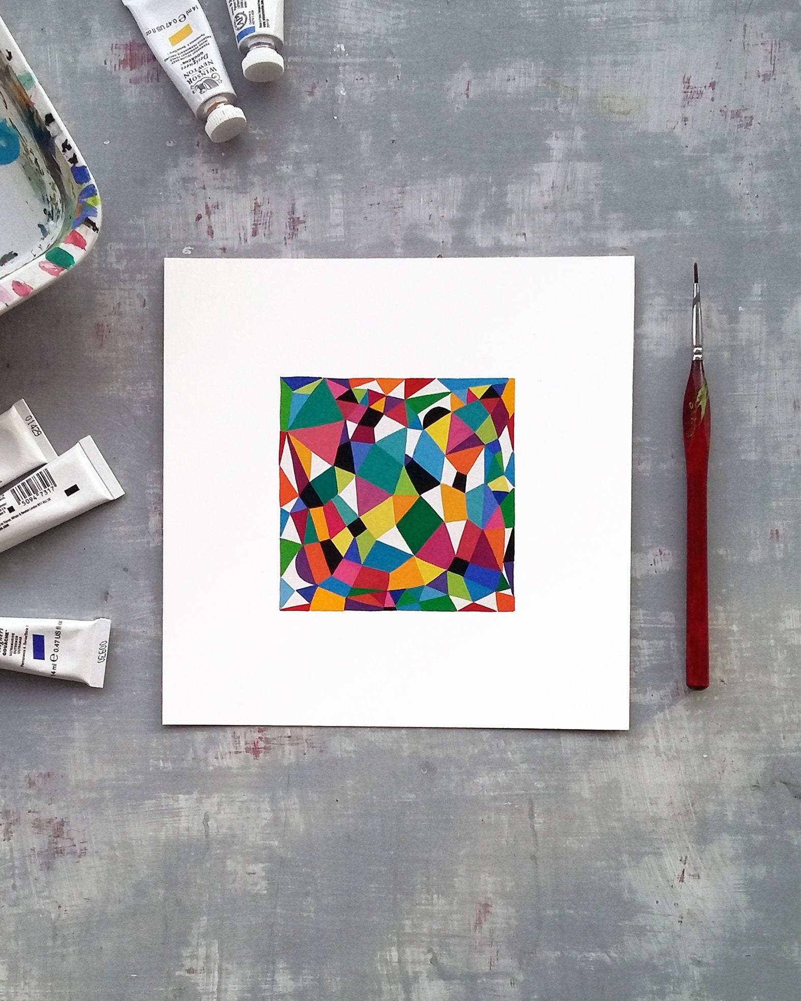 Grid_001, small geometric illustration - product image