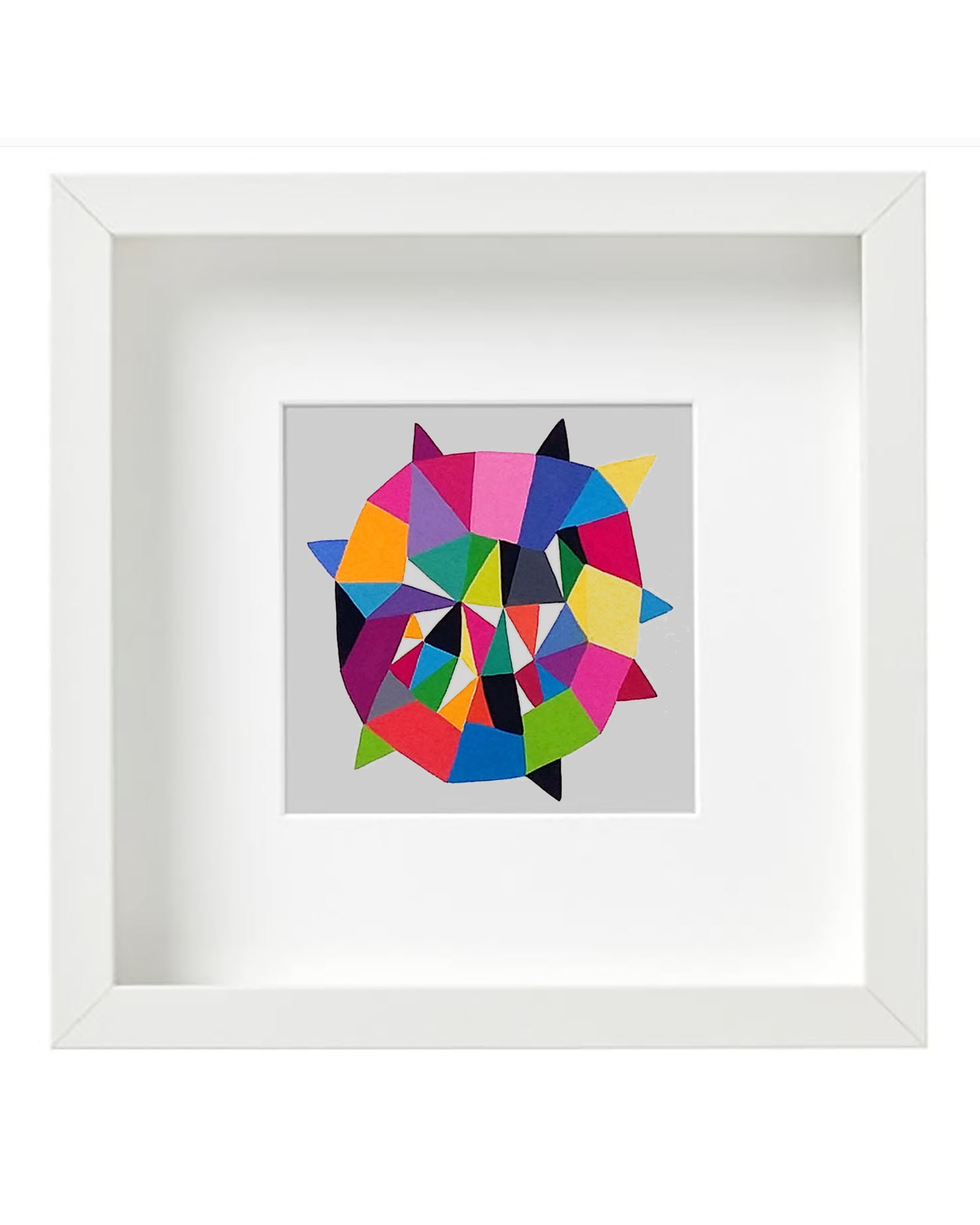 Star_006, small original geometric illustration - product images  of