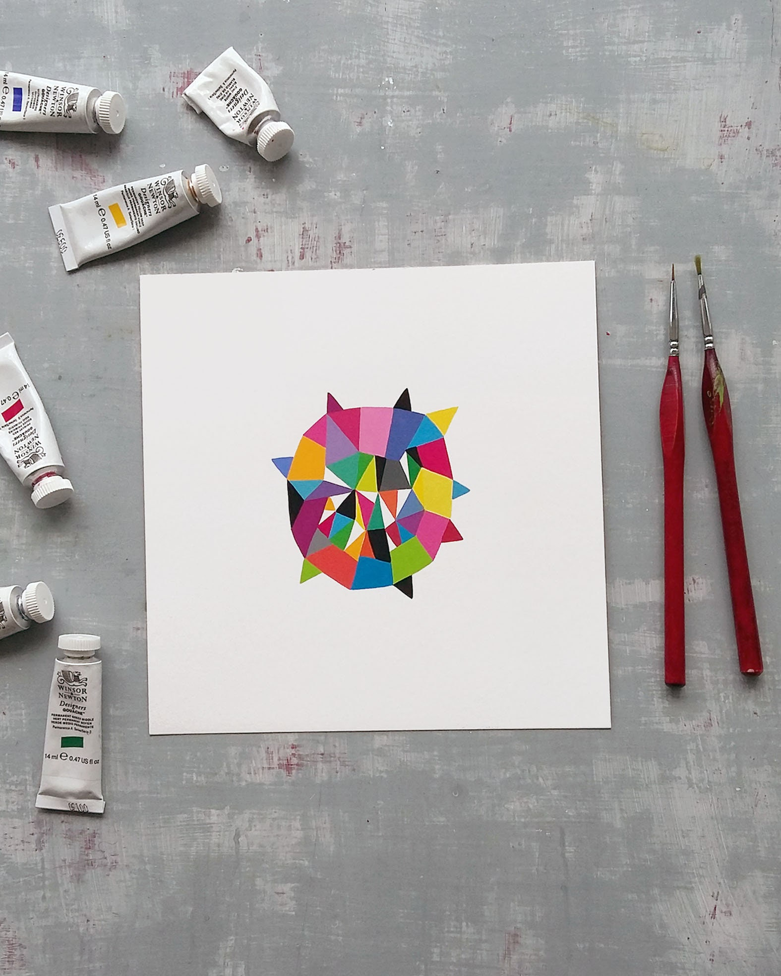 Star_006, small original geometric illustration - product image