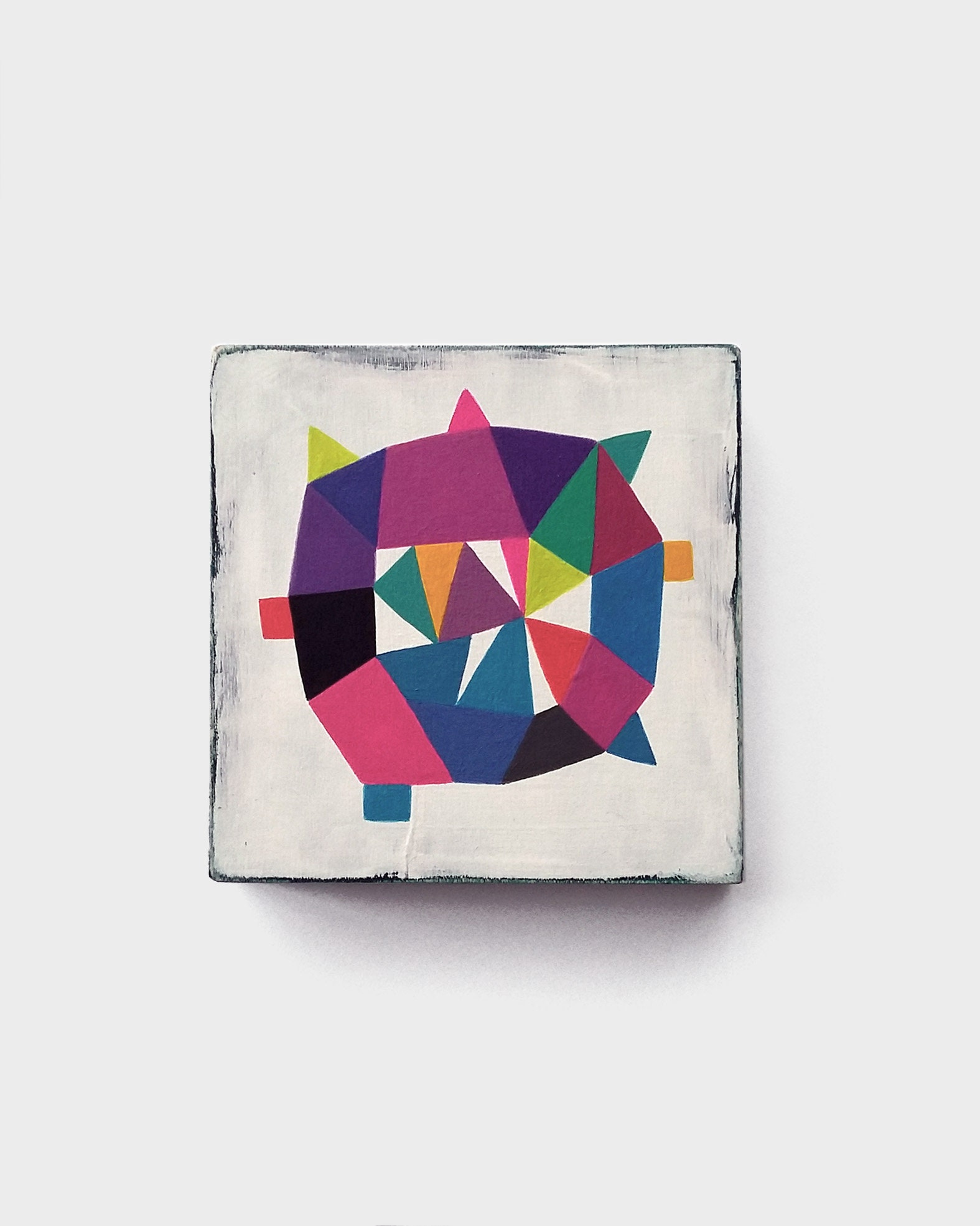 Star_005, colourful abstract painting on wood - product images  of