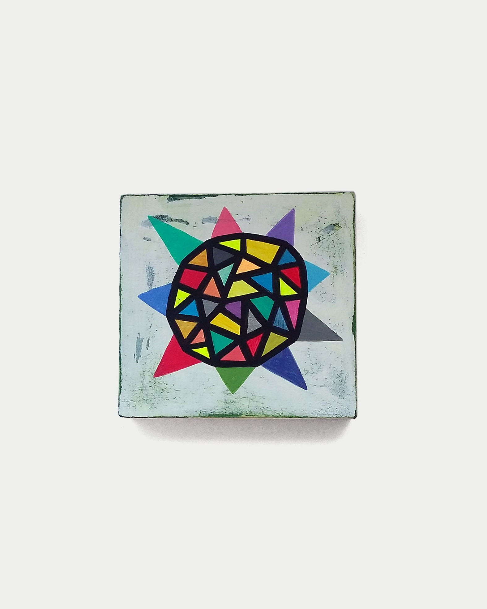 Star_001, original artwork on wood panel - product images  of