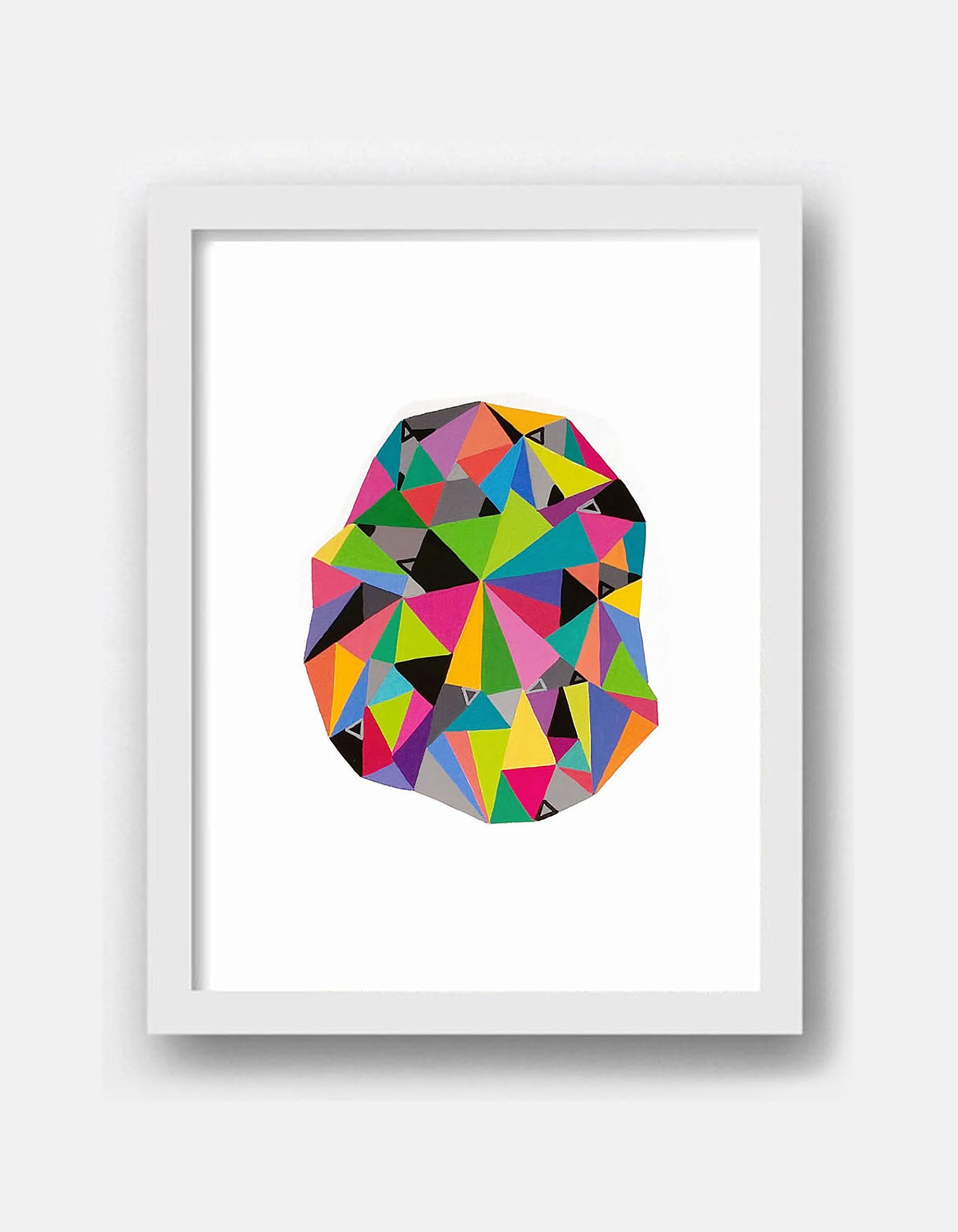 Shape_002, original geometric painting on paper - product images  of