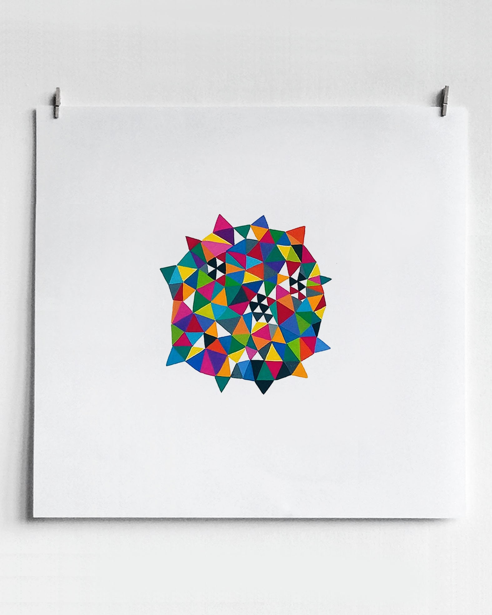 Germ_001, colourful geometric art on paper - product images  of