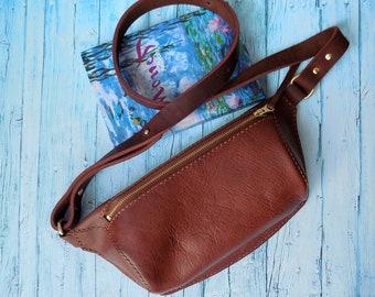 8bdf07f525 Leather fanny pack