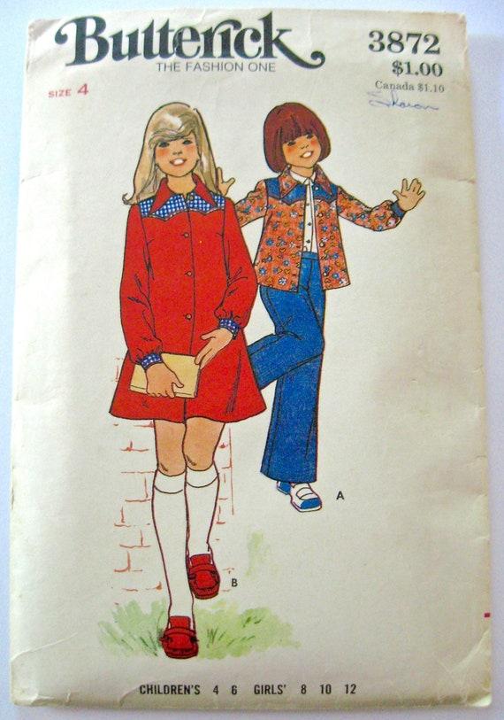 3777 UNCUT Vintage Butterick SEWING Pattern Easy Mens EZ Shirt Pants FF OOP SEW