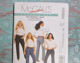 6522656b1e7 McCall s M5894 RR Pattern Palmer Pletsch The Perfect Jean size RR 18W 20W  22W 24W 54499 Classic Fit Jeans Pattern uncut pattern plus size