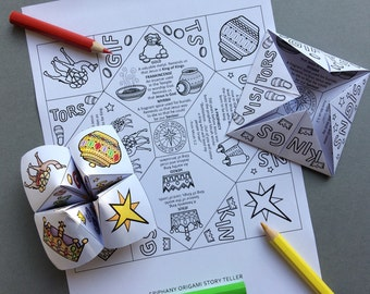 Epiphany Origami Story Teller with colouring page and word search. Based on the story of the Wise Men from Matthew 2:1-12