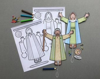 Jesus Healed Me - Praise The Lord!  Print out, colour in and make Bible figures to use to teach and re-enact Jesus healing miracle stories.