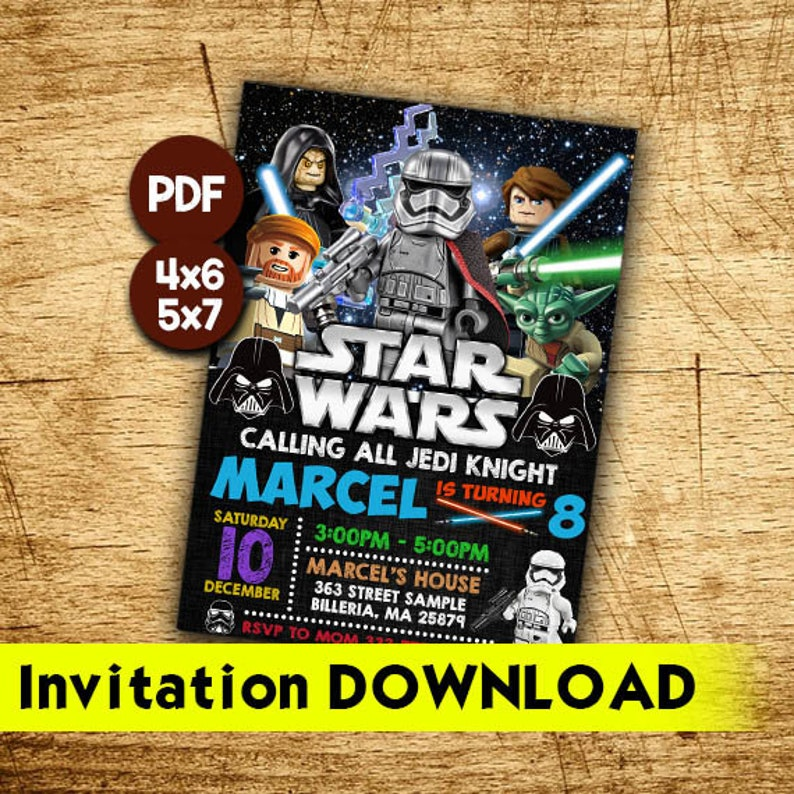 graphic regarding Printable Star Wars Invitation identified as Star Wars Invitation, Printable Star Wars Get together Invites, Star Wars Invitation Down load against E mail, Star Wars Birthday Invitation Electronic