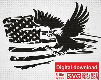 Eagle Flag Svg Etsy