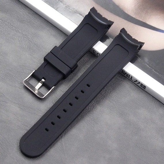 G24 24mm Curved End Silicone Rubber Watch Band Strap Men And Etsy