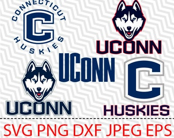 51529fd7304 SVG UConn Huskies Logo Vector Layered Cut File Silhouette Cameo Cricut  Design Template Stencil Vinyl Decal Tshirt Heat Transfer Iron on