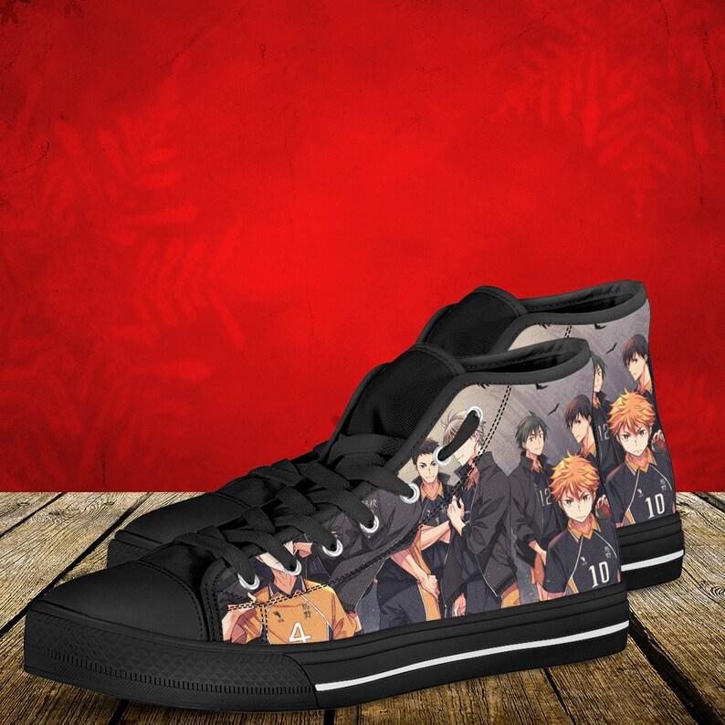 women/'s and kid/'s shoes Haikyuu men/'s Team Karasuno High top sneakers Haikyuu shoes
