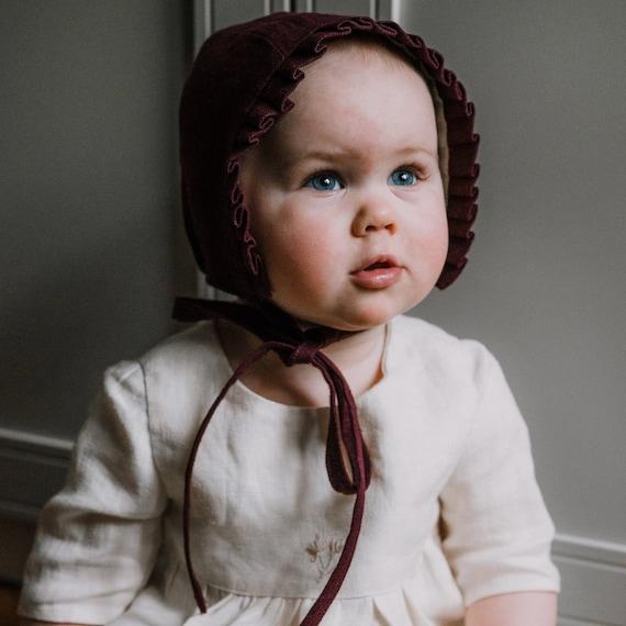 18-24 months ruffle brimmed bonnet baby girl bonnet summer bonnet