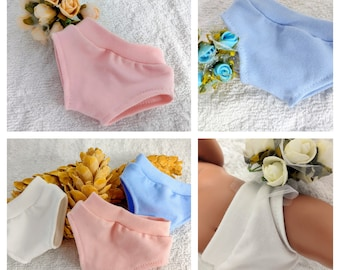 Doll panties in pink, blue and white, doll underwear, girl and boy doll clothes for 15 16 17 18 inch dolls, 38 43 46 48 cm dolls