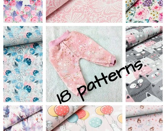 Mix and match doll pants in variety of  colours , 15 16 and 17 inch doll clothes,  38-43 cm doll clothes, Baby Annabell