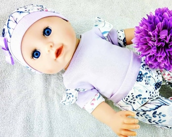 Blackberries and blueberries , frills bodysuit, pants, hat, 15 16 17 inch doll clothes, 38 - 43 cm doll clothes  doll clothes