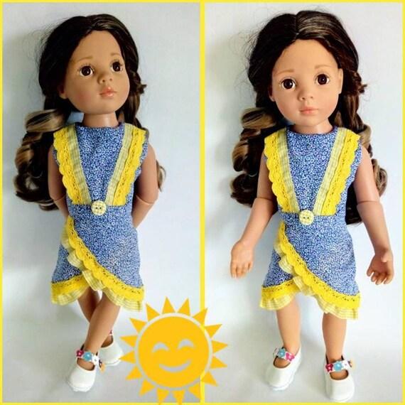 Gotz Check Blu Dress Set 45-50cm