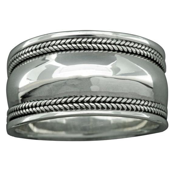 Twisted Rope Bali Cigar Braid Band RING 10 g SOLID Sterling Silver 925 BELDIAMO
